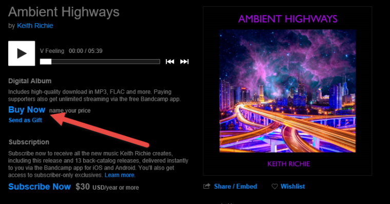 Ambient Highways Buy Now Name your Price